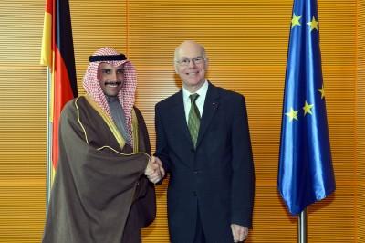 09 April 2014: S.E. Herr Marzouq Al-Ghanim und Bundestagspräsident Norbert Lammert