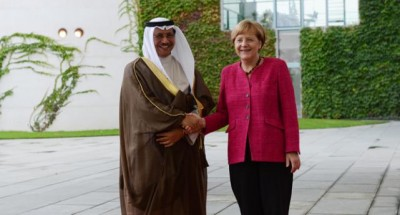 His Highness the Prime Minister with Chancellor Angela Merkel