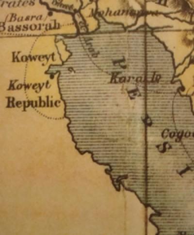 Alte Landkarte von Kuwait